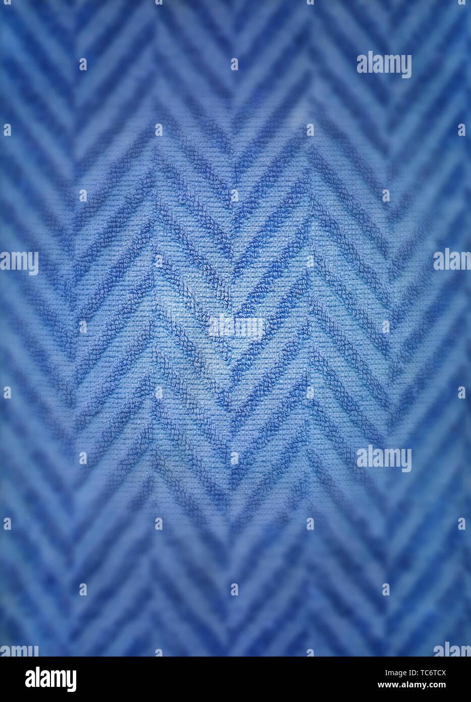 Struktur eines blauen Handtuch, Struktur des blauen Handtuchs Stockbild