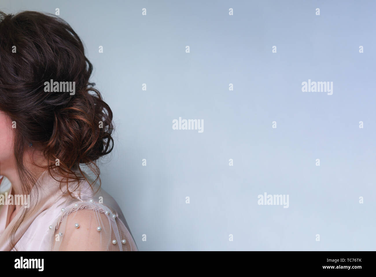 Lange Haare Frisur Ombre Styling Im Beauty Salon Von Der