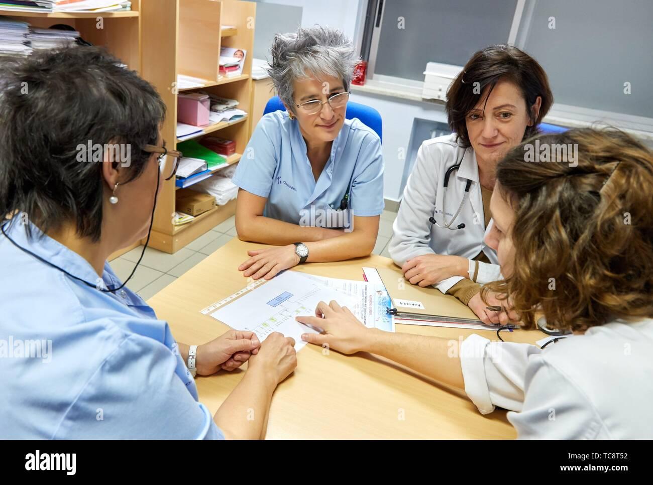 Genetische Beratung, Onkologie, Krankenhaus Donostia, San Sebastian, Gipuzkoa, Baskenland, Spanien Stockbild
