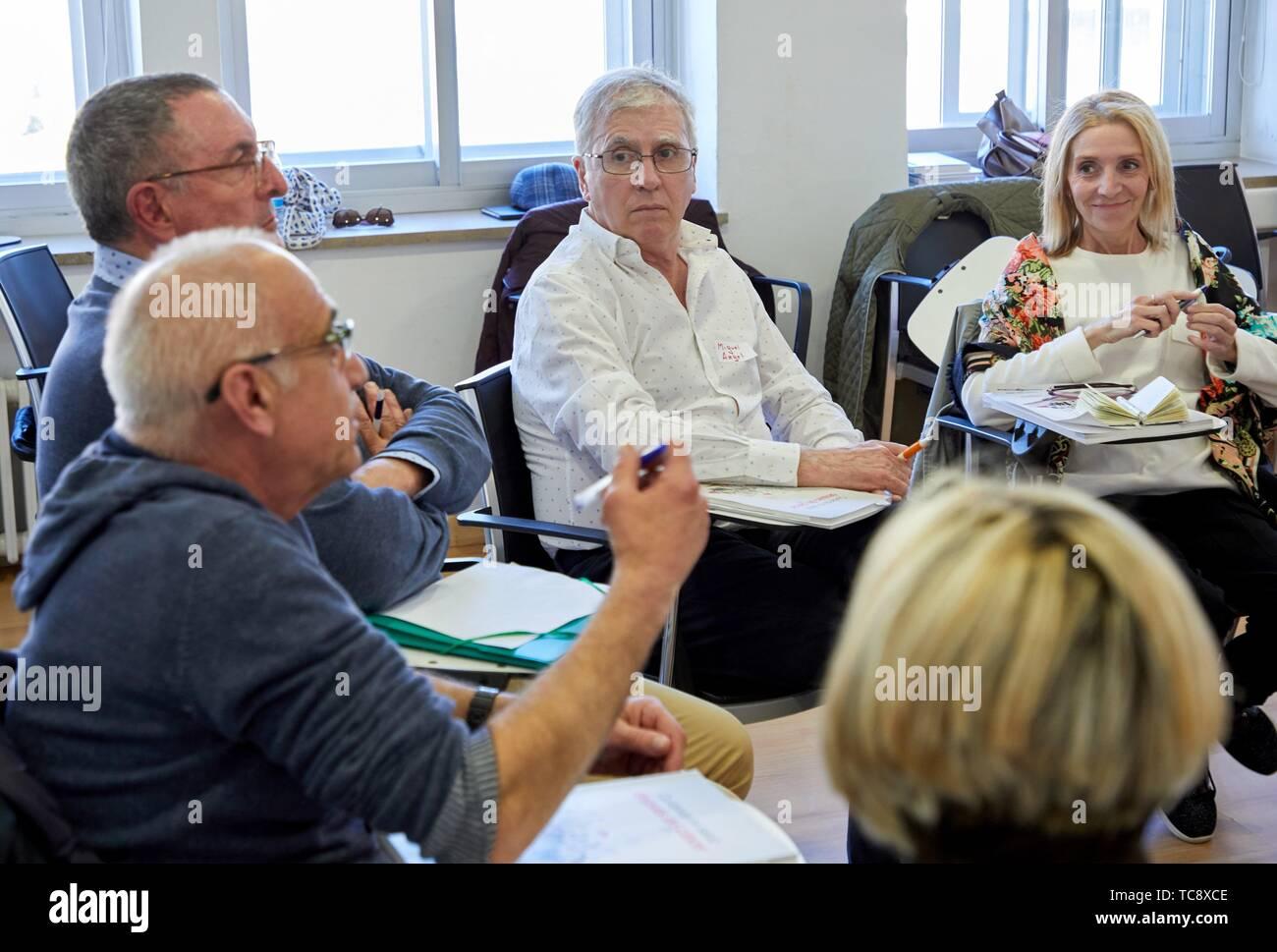 Aktiven Patienten Programm, Bildung Programm in self-care, so dass Menschen mit chronischen Krankheiten die Krankheit, sowie die Gewohnheiten kennen, können Stockbild