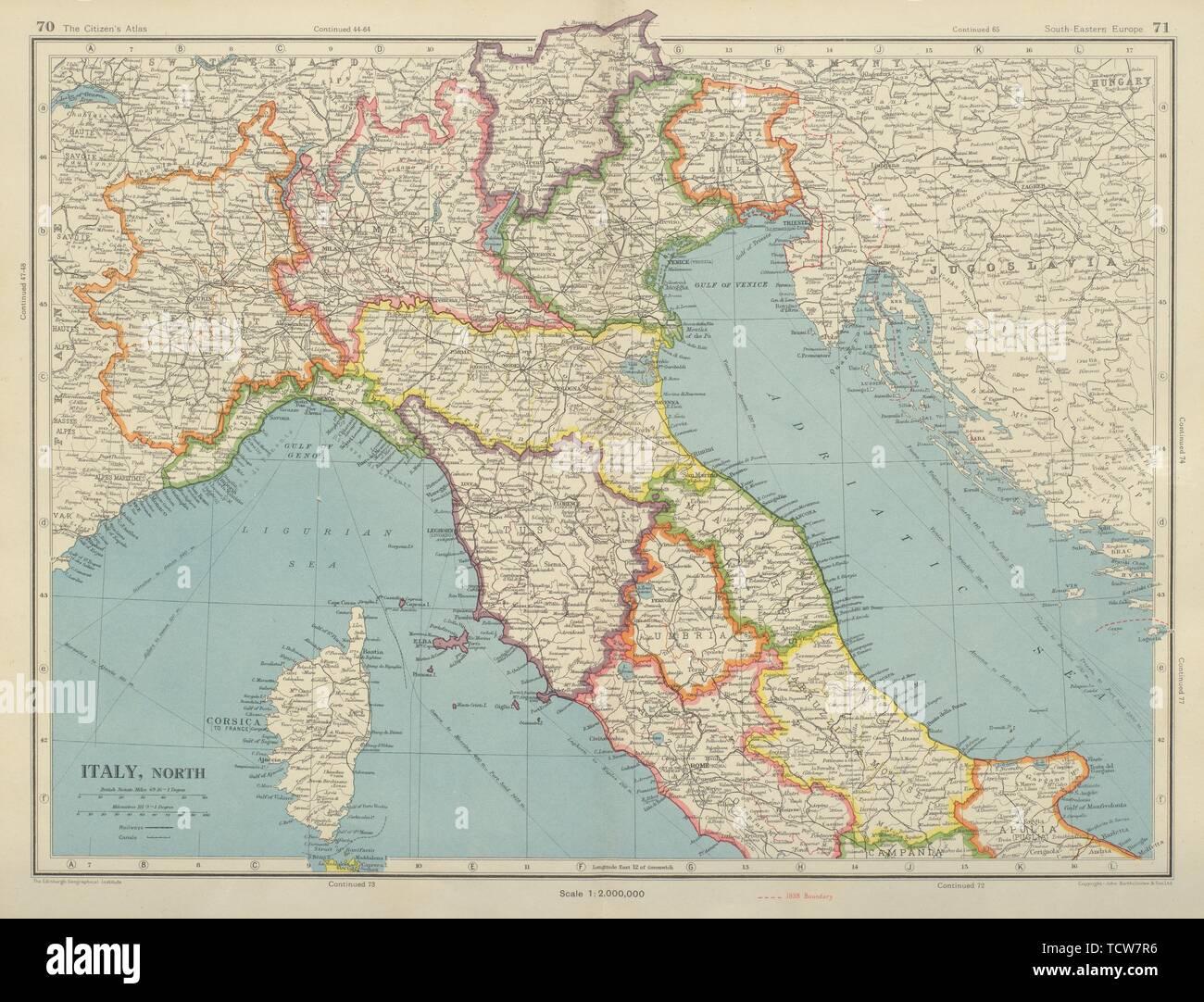 N ITALIEN post WW2/pre 1947 Grenze ändert. Triest ...