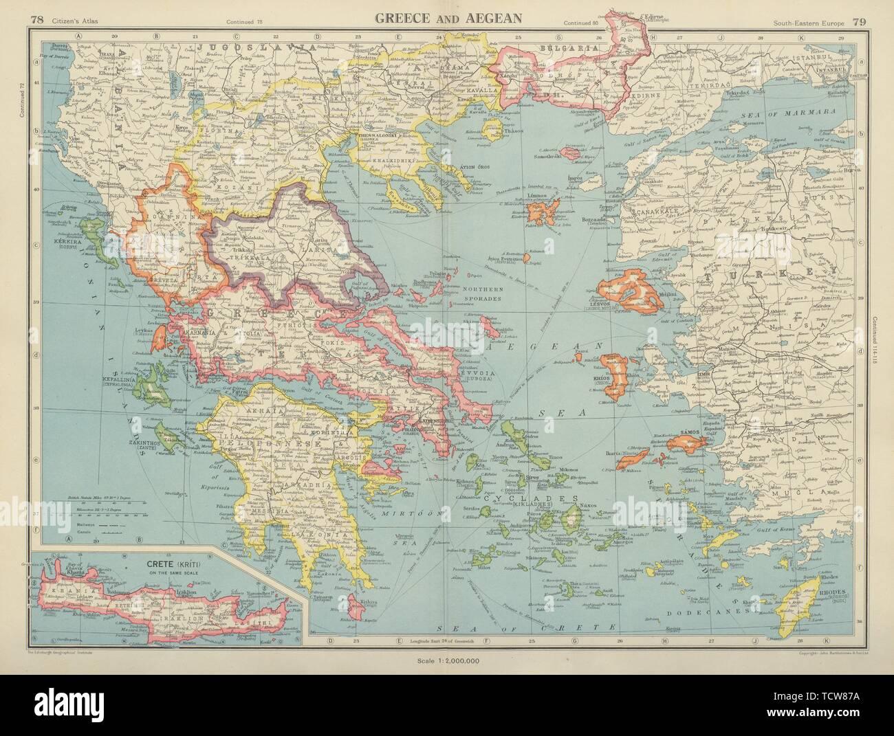 Griechenland Und Die Agais Kreta Kykladen Sporaden Dodekanes C