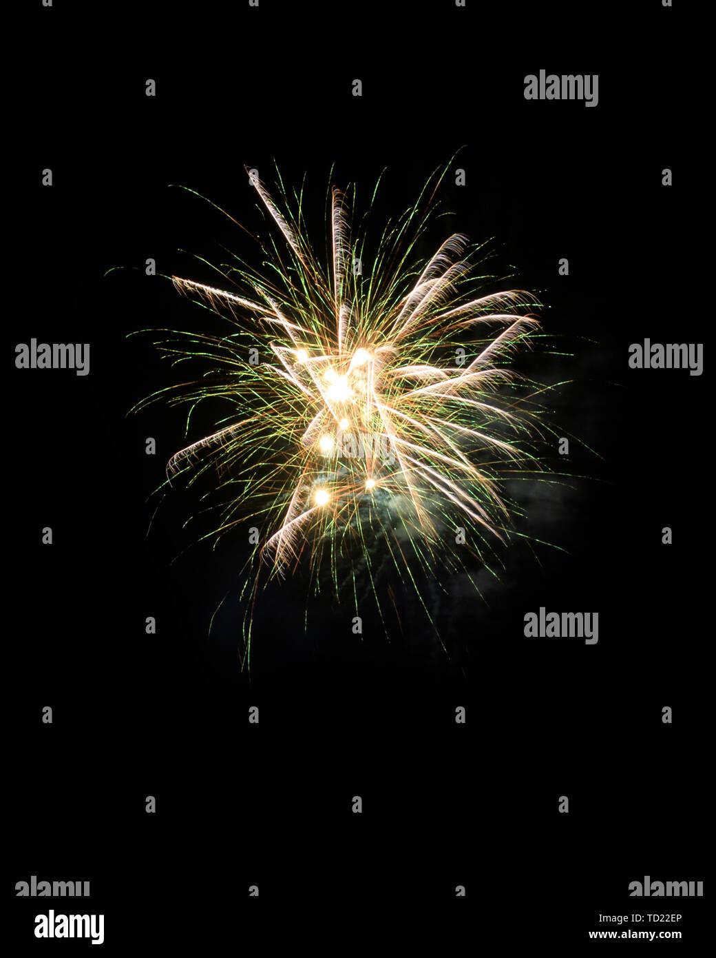 Feuerwerk Hintergrundbild Stockfoto
