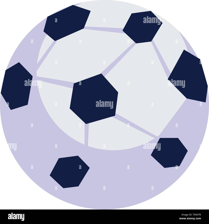 Fussball Ballon Sport Isolierte Symbol Vektor Illustration