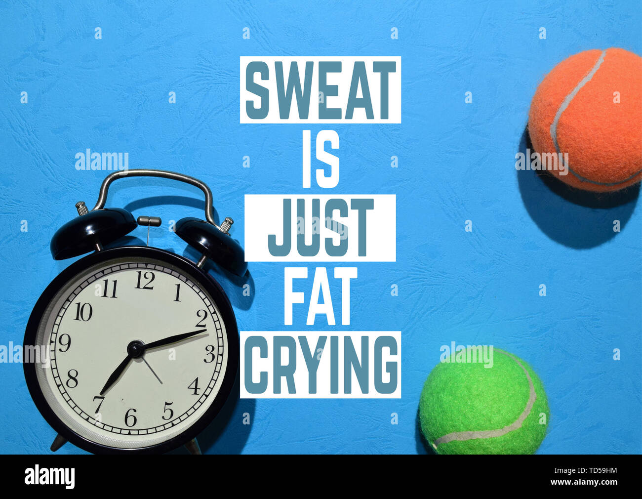 Schweiss Ist Nur Fett Schreien Fitness Motivation Zitate Sport Konzept Stockfotografie Alamy