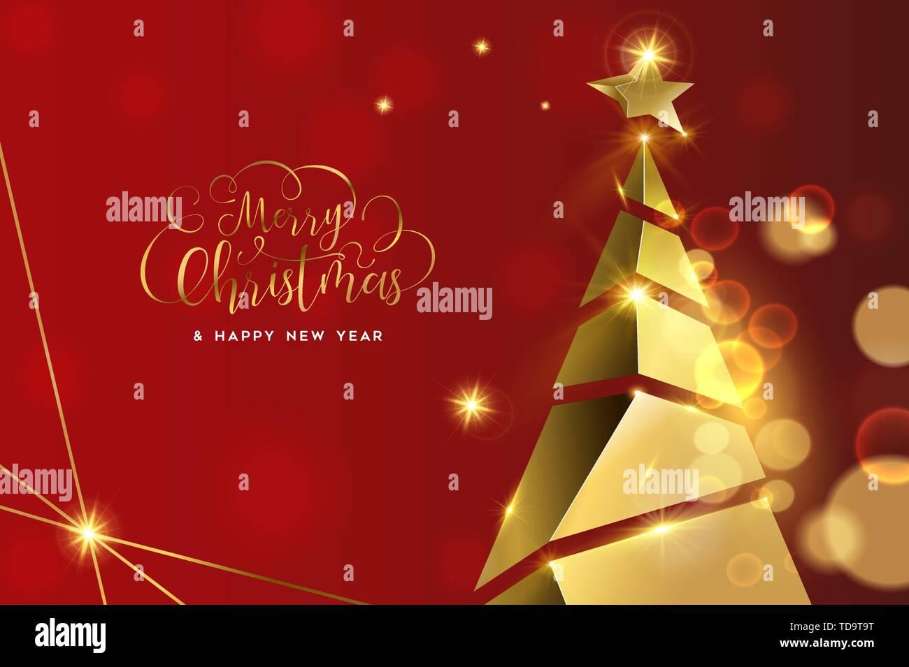 Frohe Weihnachten 3d.Frohe Weihnachten Frohes Neues Jahr Luxus Grußkarte Illustration