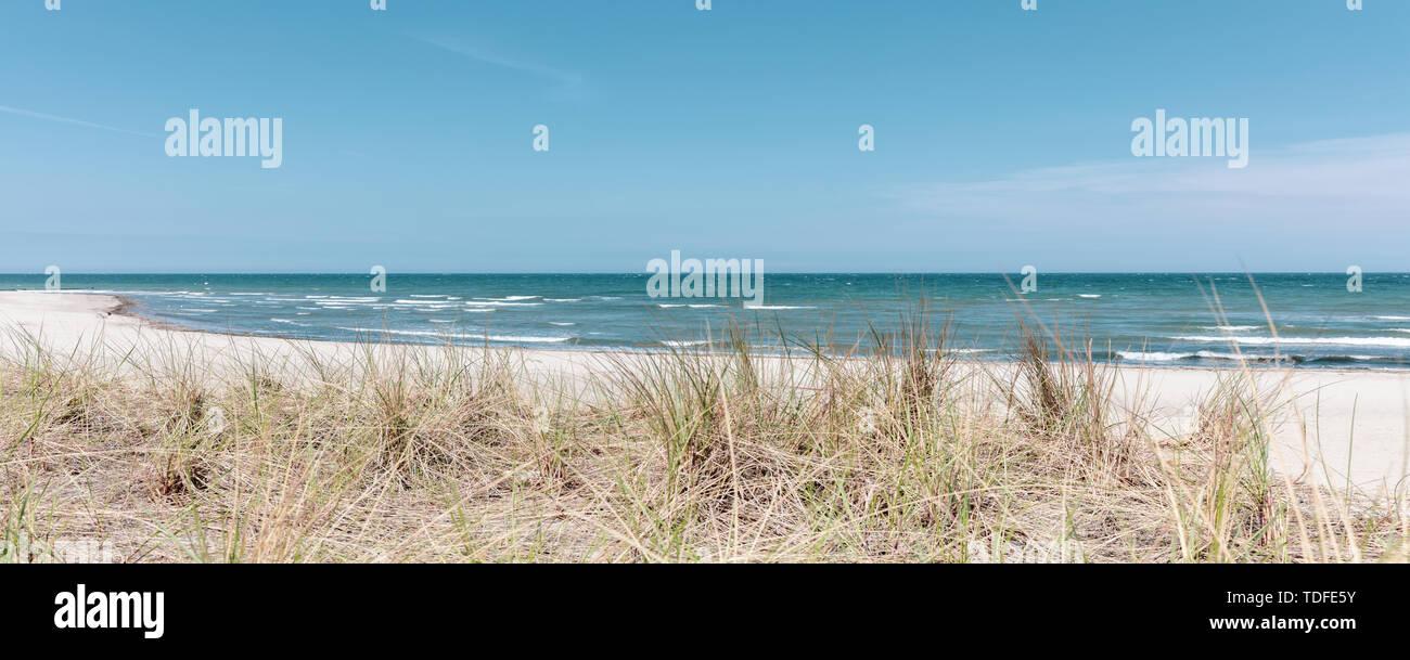 Der Strand von Boltenhagen bei schönem Wetter Stockbild