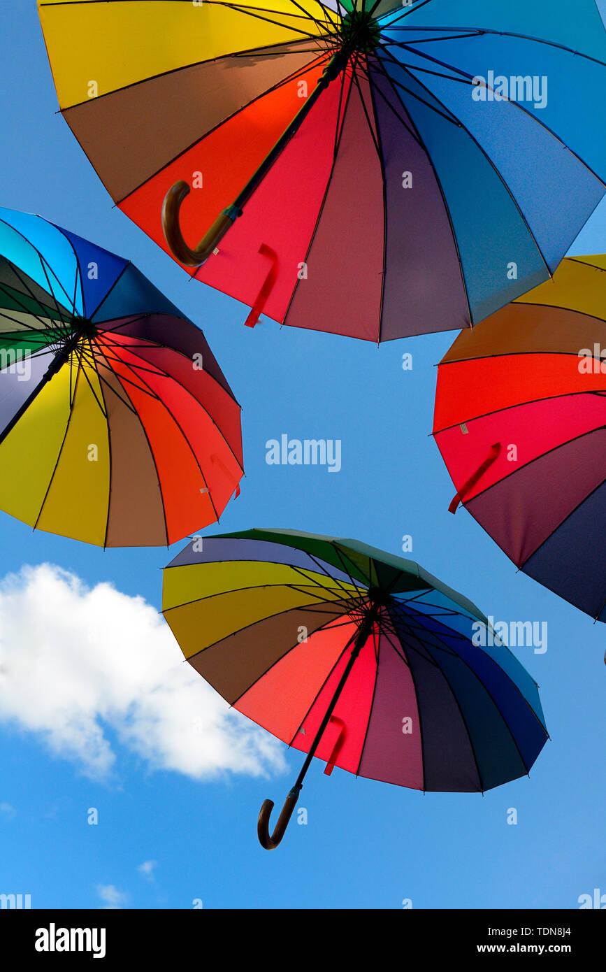 Bunte Schirme Stockbild