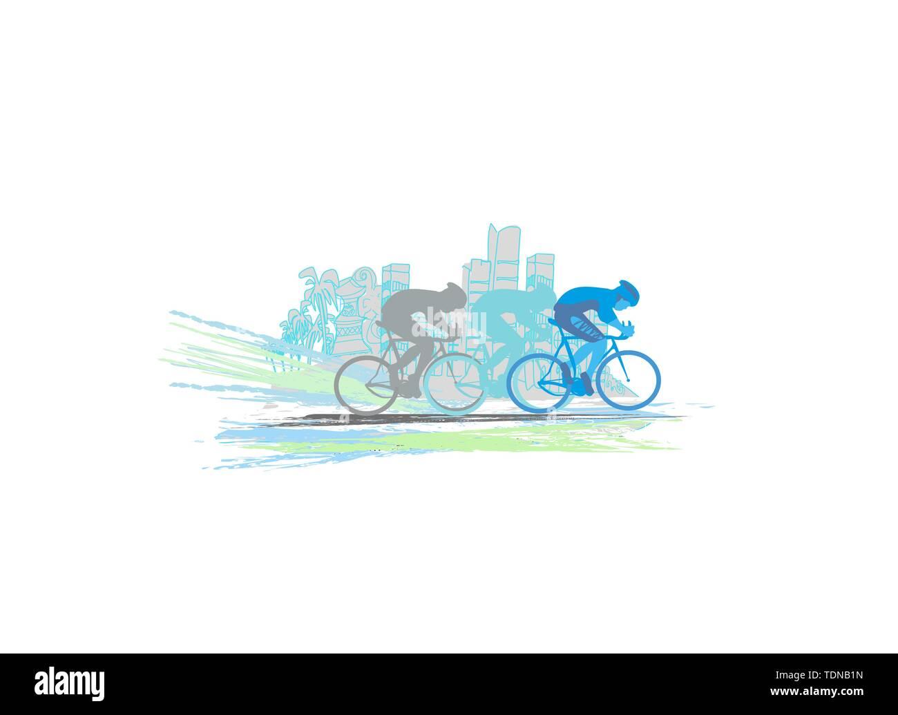 Peleton Radrennen - abstrakte Karte Stockbild
