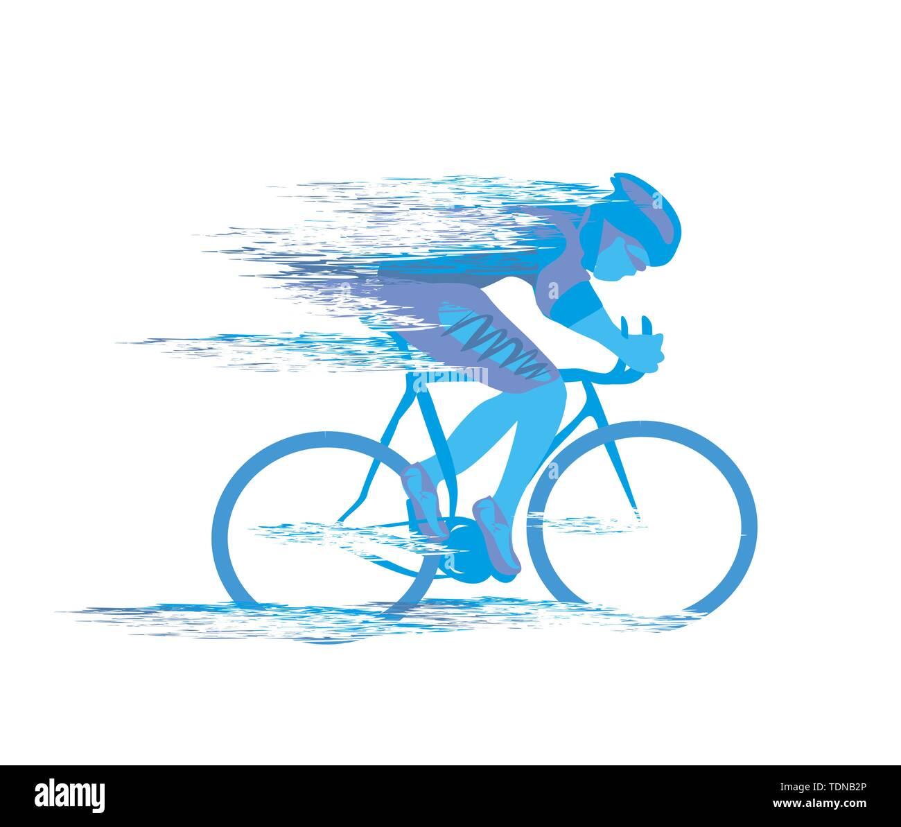 Radrennen stilisierte backgrond Stockbild