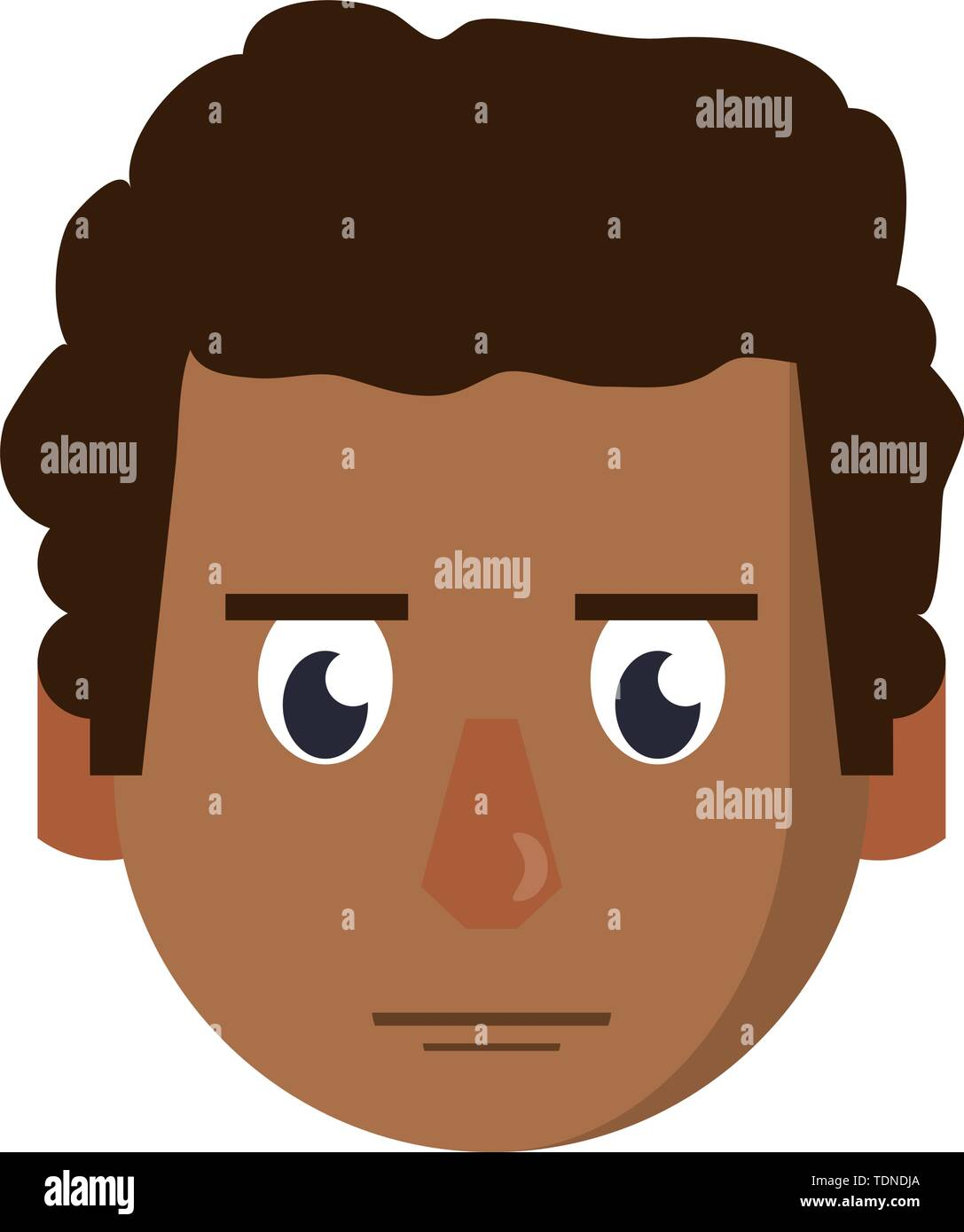 Mann wütend das Gesicht Kopf Charakter cartoon Vector Illustration graphic design Stockbild
