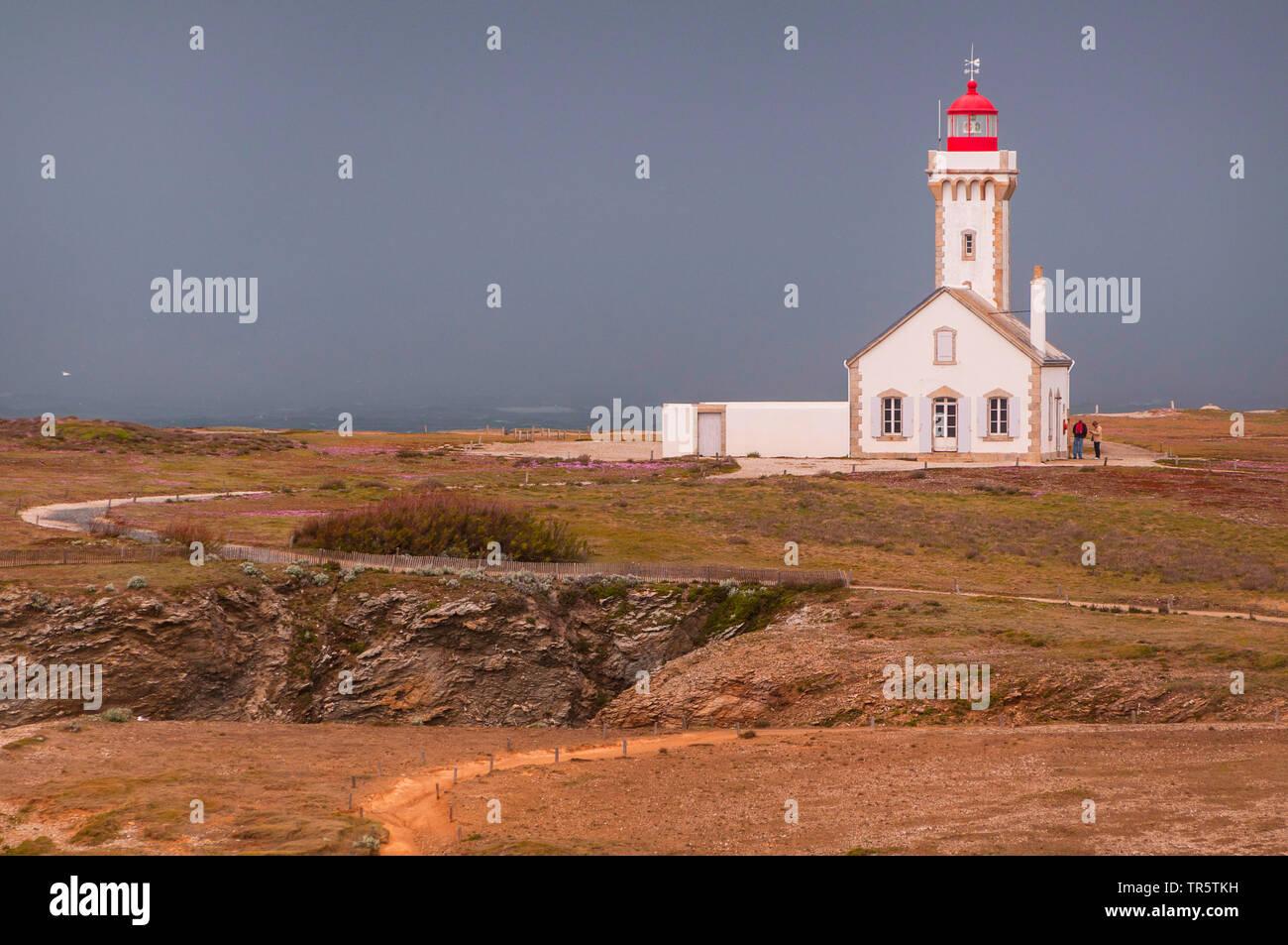 Leuchtturm Phare de Poulains, Frankreich, Bretagne, Morbihan, Belle-Ile-en-Mer | Phare des Poulains, Frankreich, Bretagne, Morbihan, Belle-Ile-en-Mer | B Stockbild