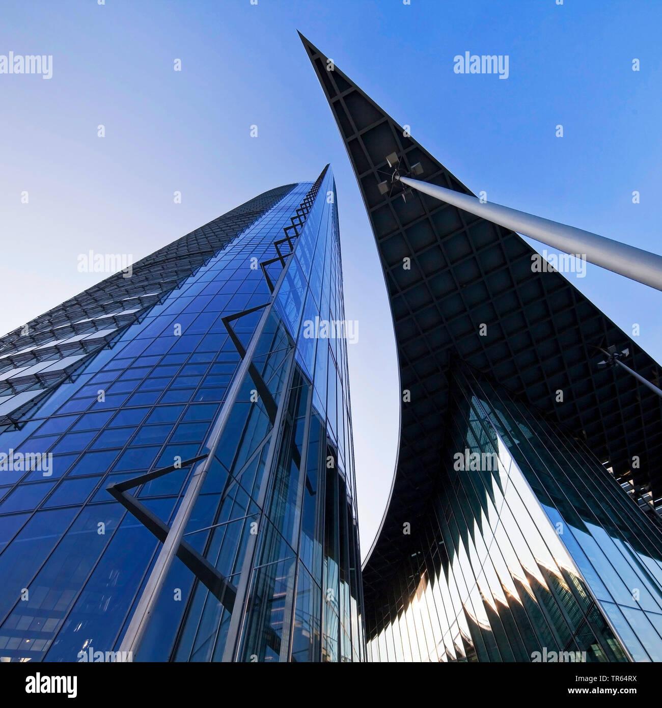 Post Tower, Hauptsitz der Logistikunternehmen Deutsche Post DHL, Deutschland, Nordrhein-Westfalen, Bonn Stockfoto