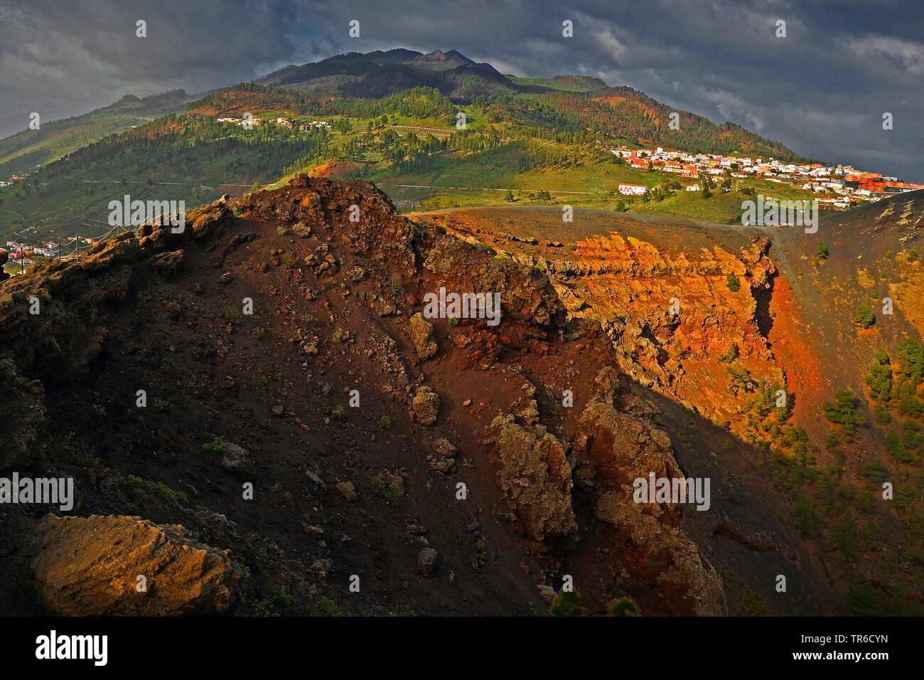 Vulkan San Antonio, Kanarische Inseln, La Gomera Stockbild