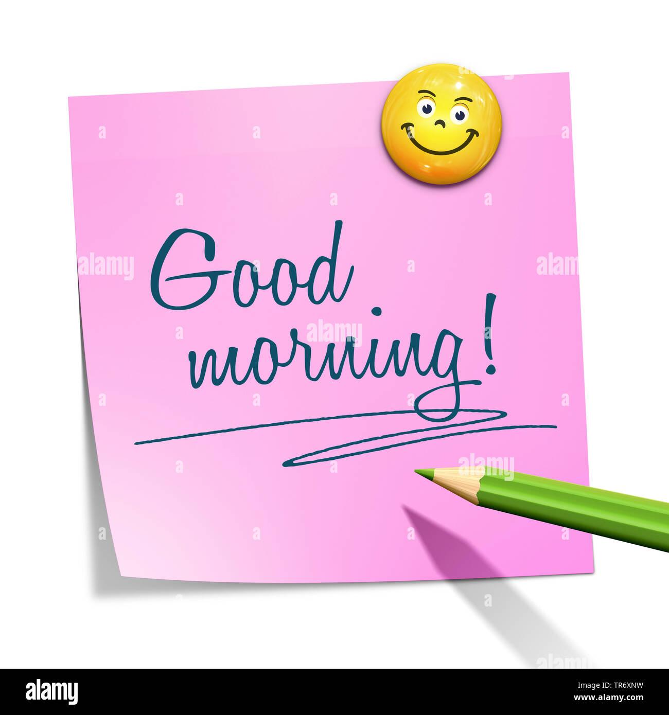 guten morgen smilies
