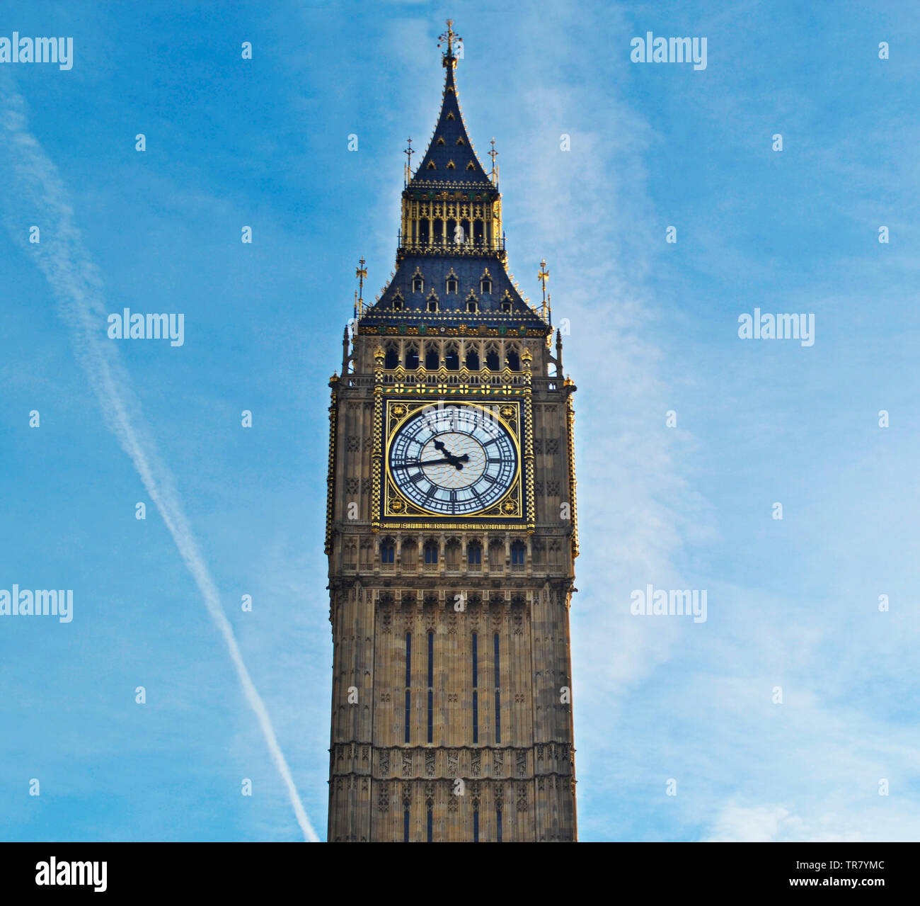 Der Name Big Ben bezieht sich auf das schwerste der fünf Glocken des berühmten uhrturms am Palace of Westminster in London von 13,5 t. Stockbild