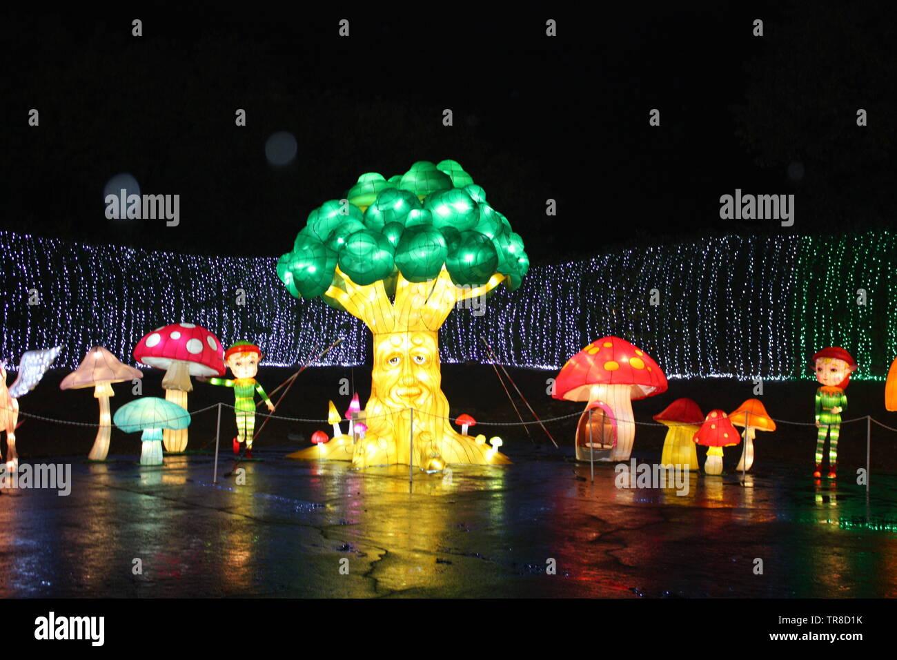 Drei der Lichter und Gnome Stockbild