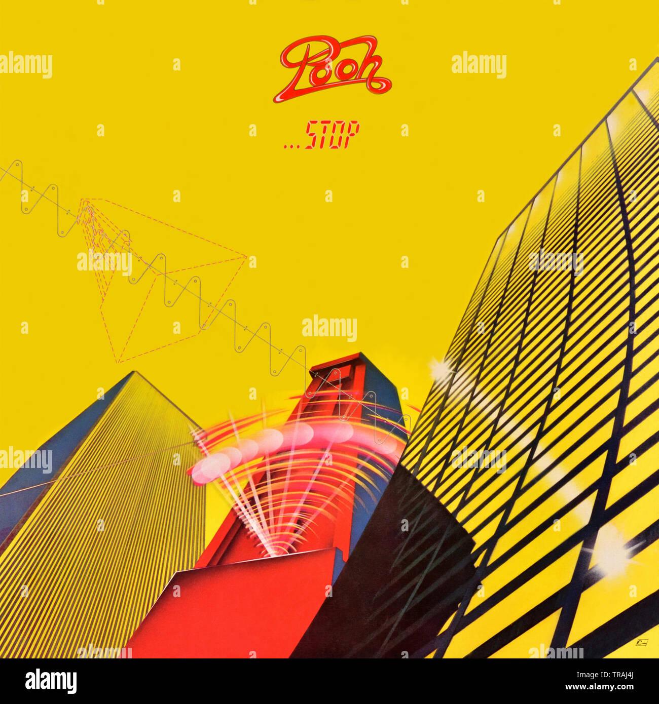 Pooh original Vinyl Album Cover - Stopp - 1980 Stockbild