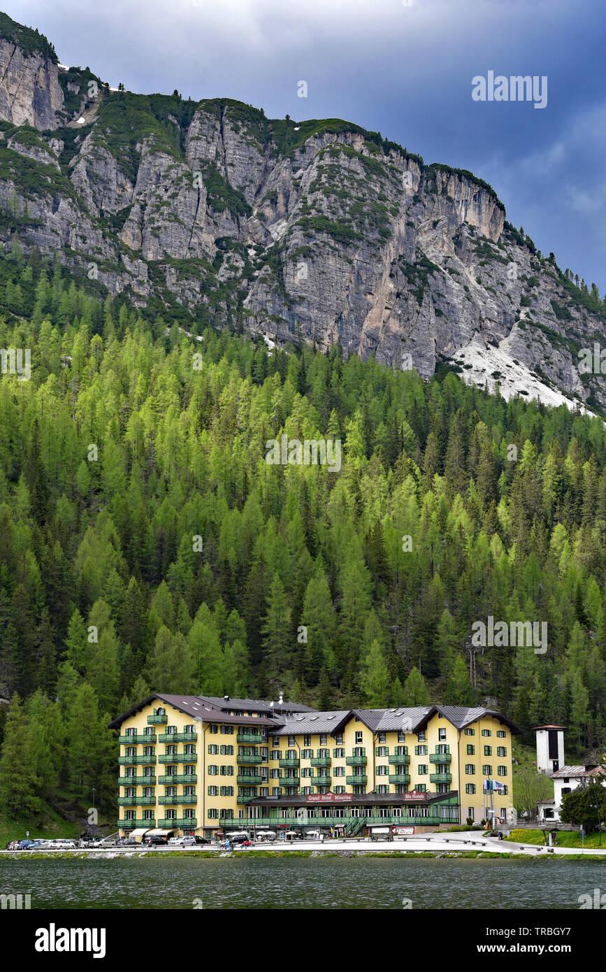 Grand Hotel Misurina Neben Lago Di Misurina In Den Schonen Dolomiten