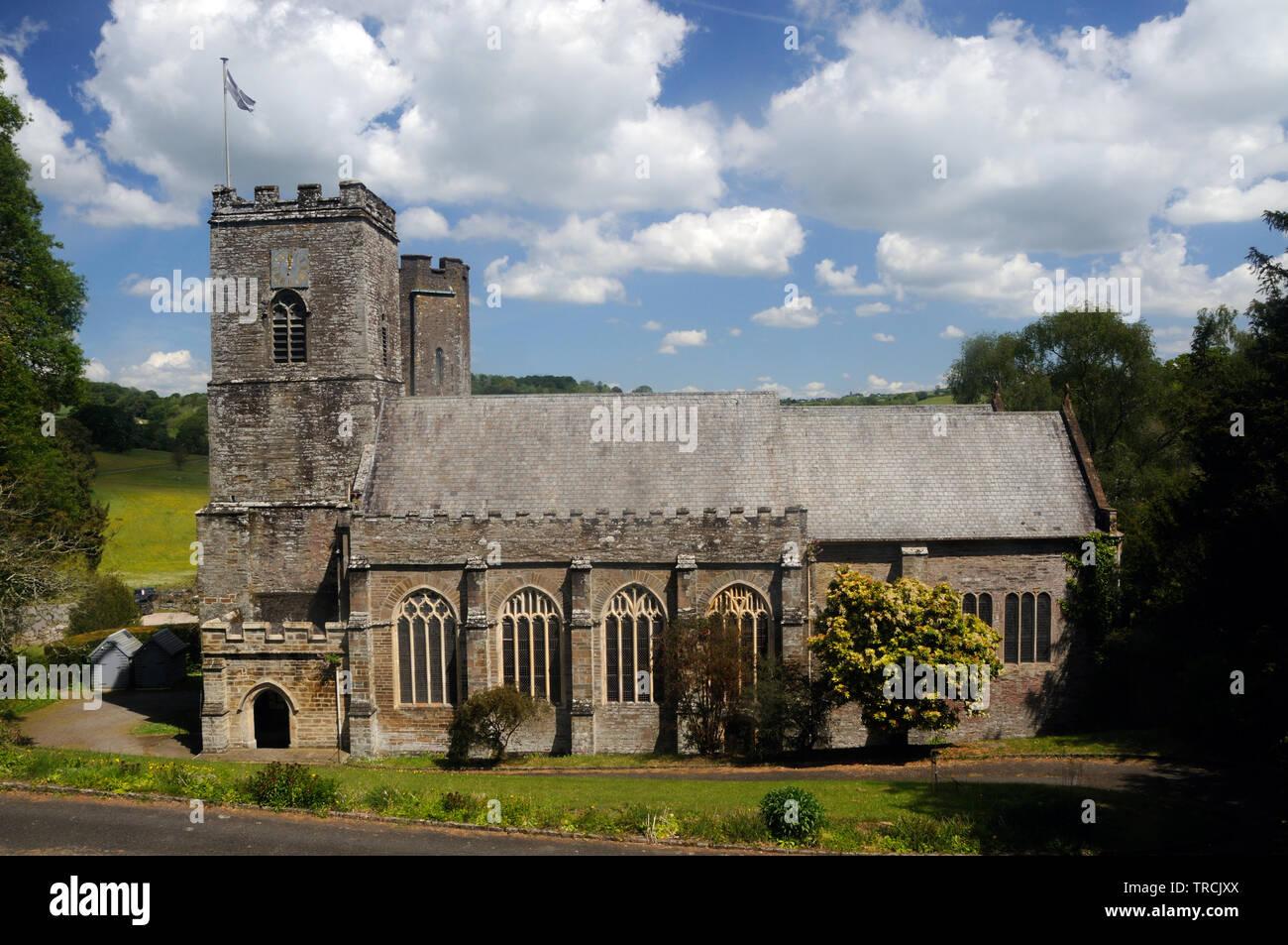 Die Klosterkirche von St. Gerrmanus, in St. Germans, Cornwall, England Stockbild