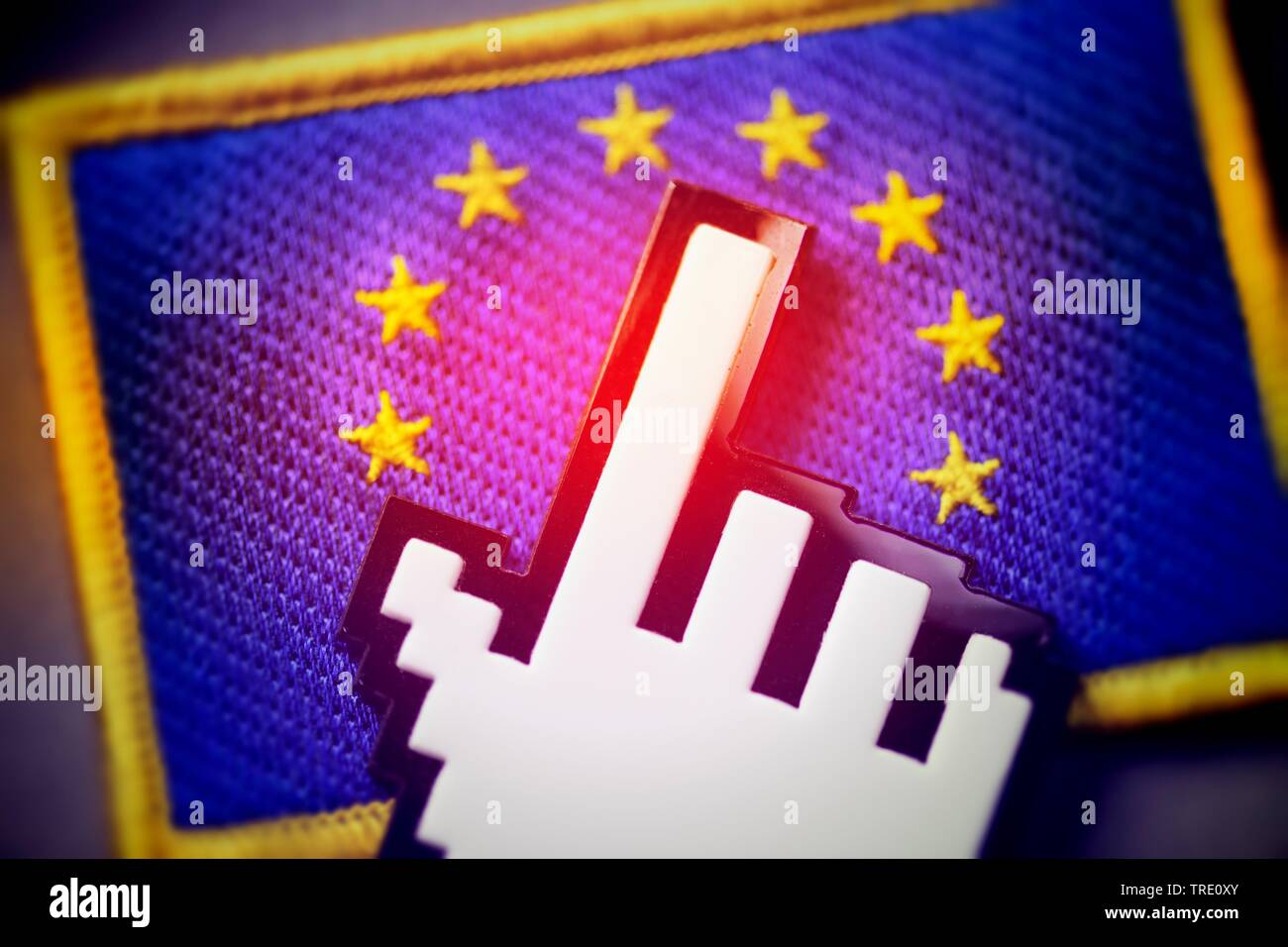 Symbol für das in der Union umstrittene Digital Sales Tax oder Google Steuer für große Zusammenarbeit besprochen Stockfoto