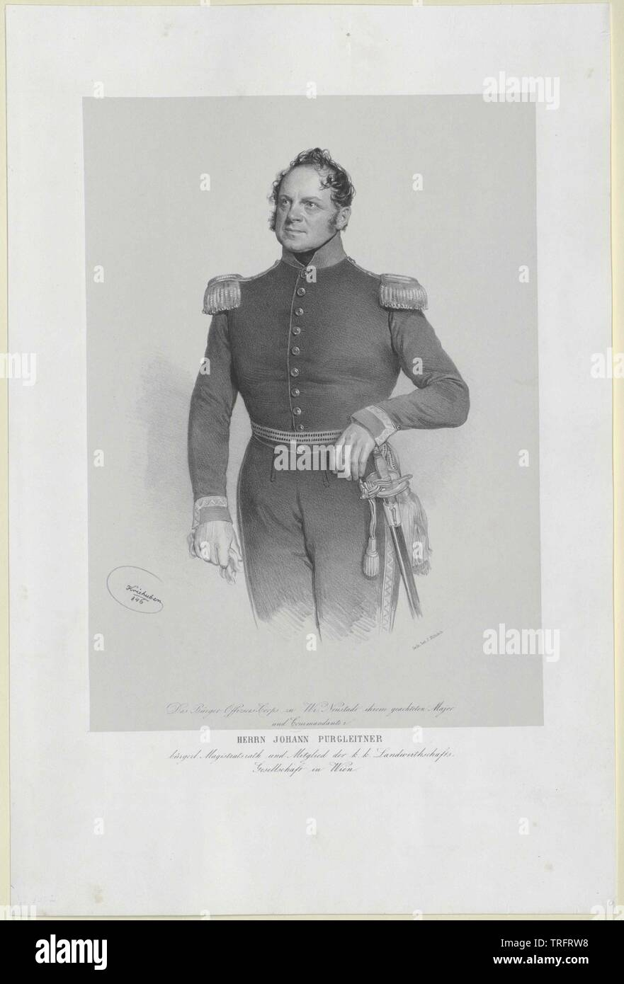 Purgleitner, Johann, lebte ca. 1855, Additional-Rights - Clearance-Info - Not-Available Stockfoto