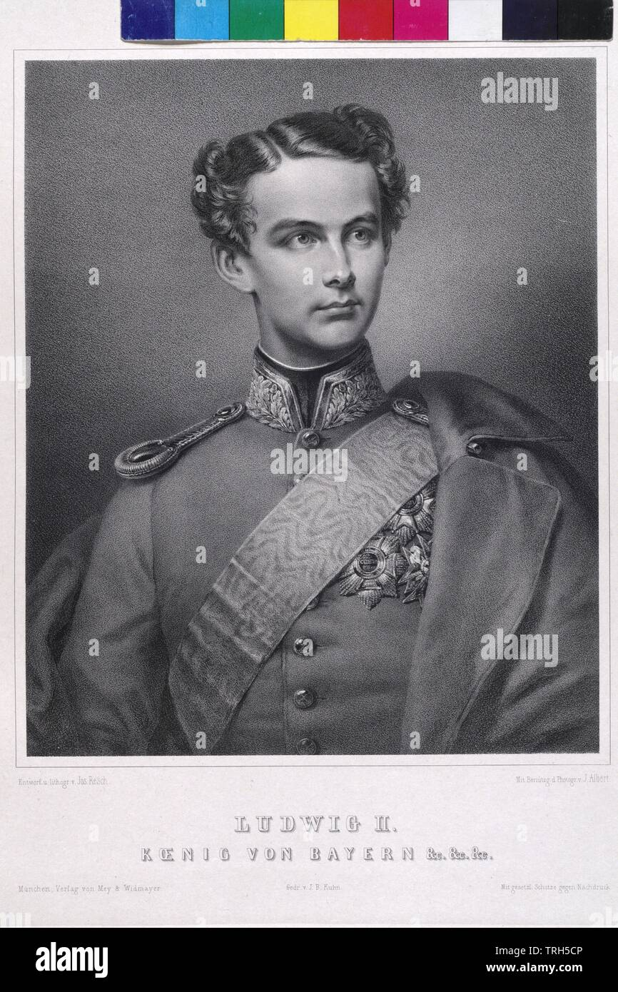 Ludwig II., König von Bayern, Additional-Rights - Clearance-Info - Not-Available Stockfoto