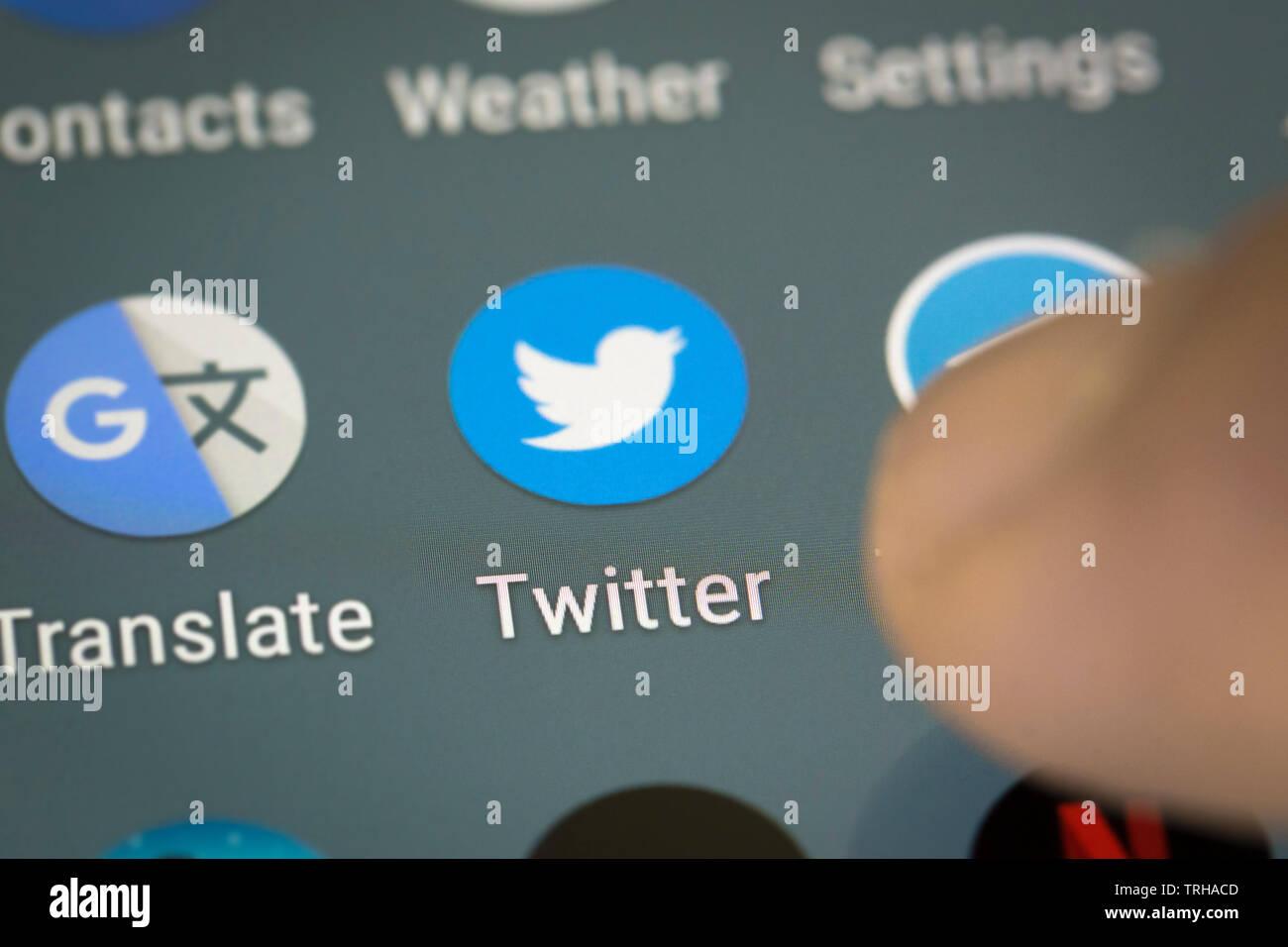 Twitter Telefon Stockfotos und  bilder Kaufen   Alamy