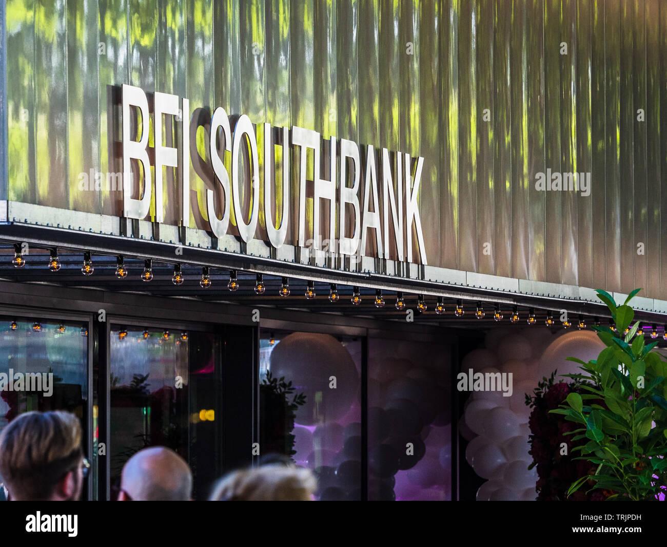 BFI Southbank - der Eingang zur British Film Institute Southbank Kino auf dem Londoner Southbank Komplex Stockbild