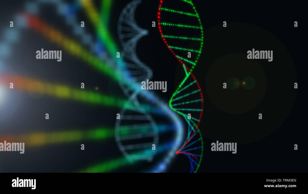 DNA und medizinischen und technologischen Hintergrund. Gesundheit und Wissenschaft Symbol. Stockfoto