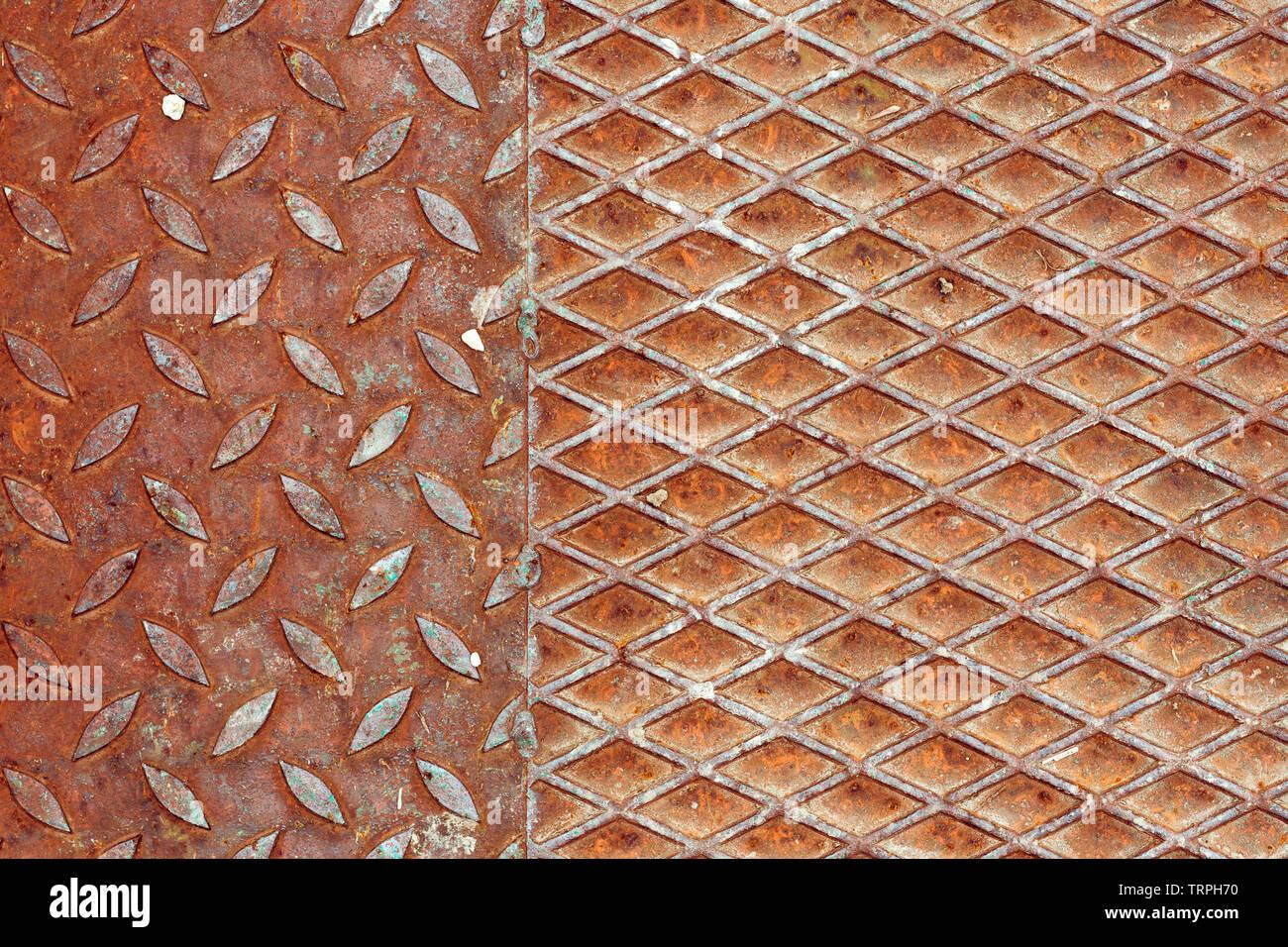 Rostiges Metall rutschfeste Oberfläche Textur, abstrakte industriellen Hintergrund Stockbild