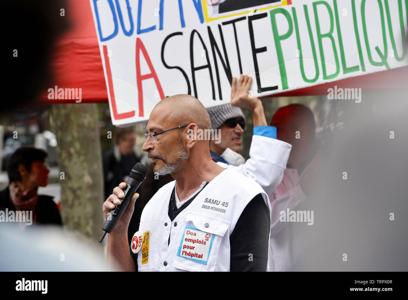 Emergency Health Care workers Protest in Paris - Frankreich Stockfoto