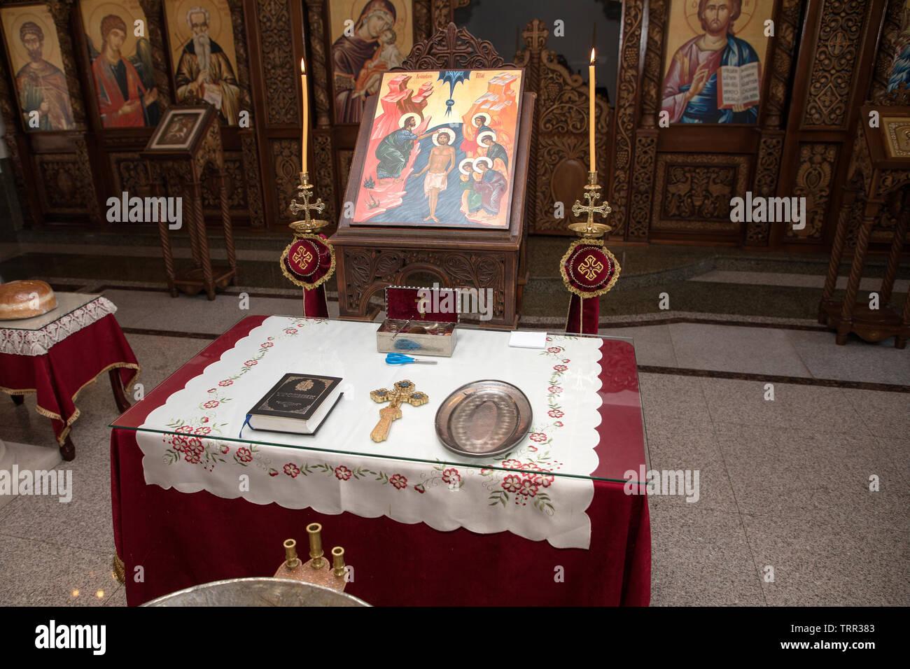 Zubehör Für Die Taufe Von Kindern Symbole Von Kerzen Und