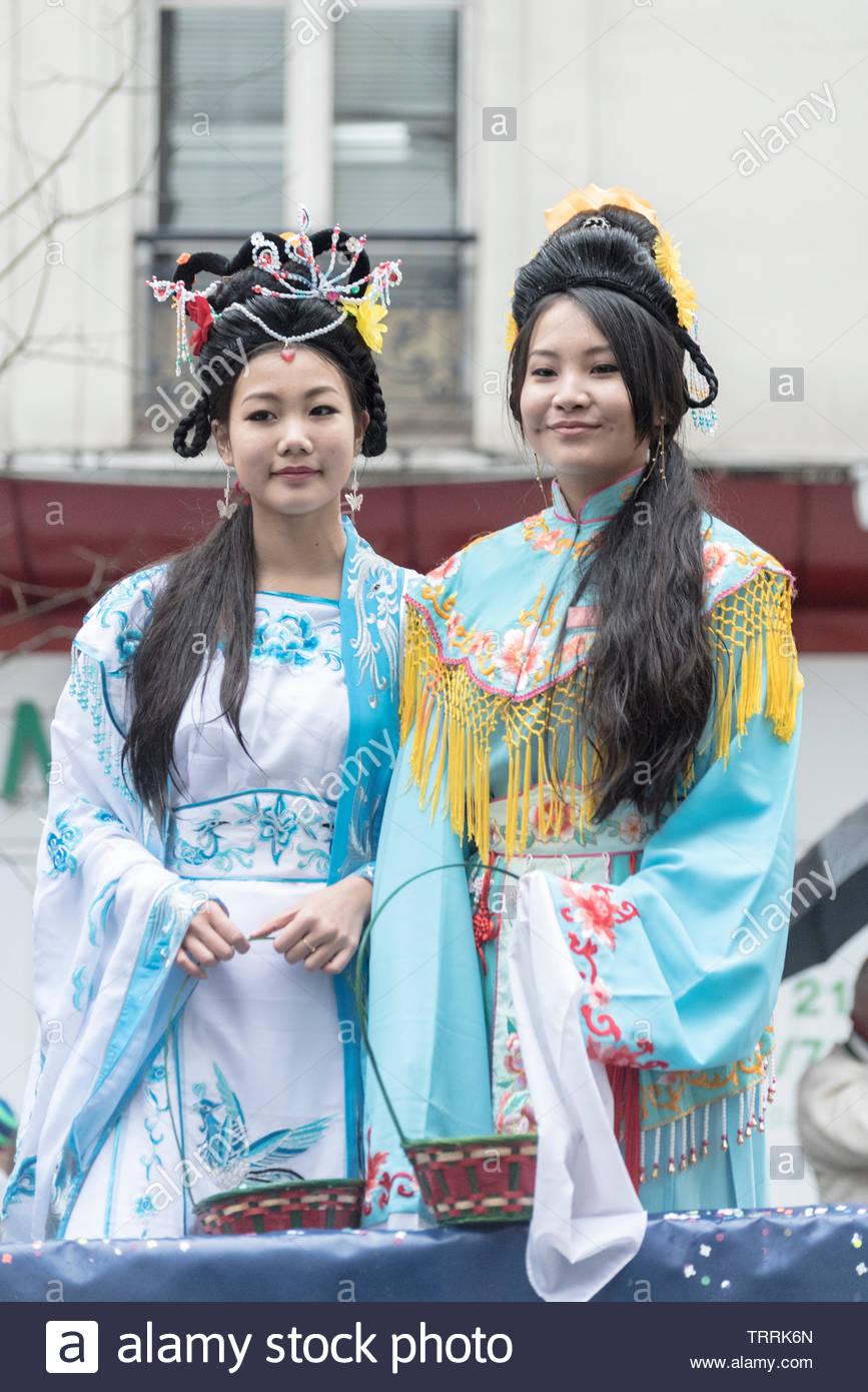 Paris, Frankreich. Chinese New Year Festival Stockbild