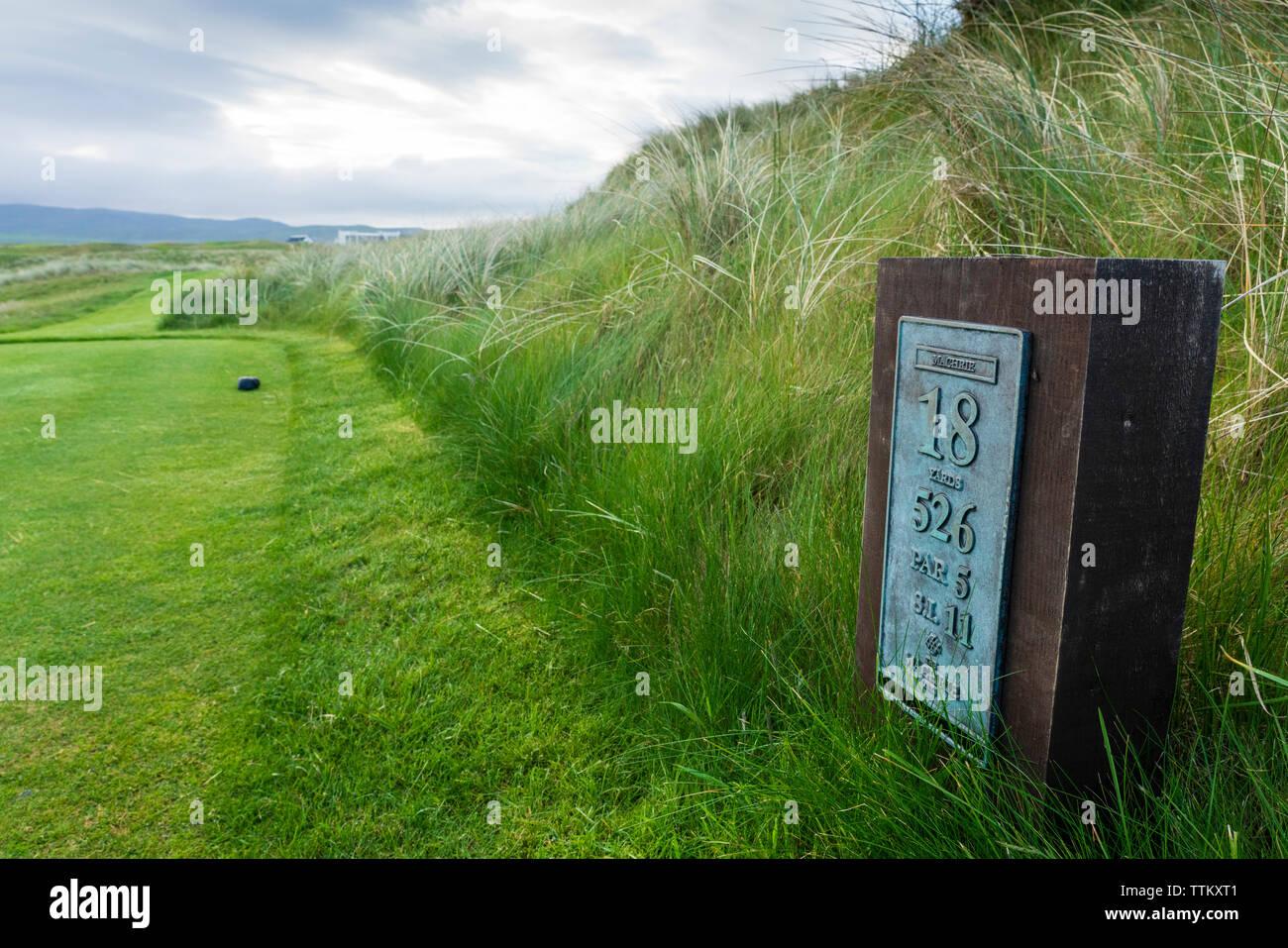 Anzeigen von machrie Golf Links Golf Course auf Islay. In der Inneren Hebriden, Schottland, Großbritannien Stockfoto