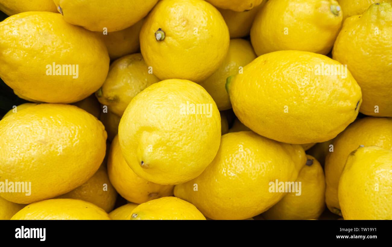 Zitrone Obst Hintergrund Stockbild
