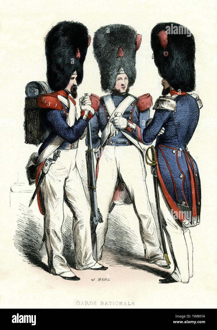 Französischen Nationalgarde (grenadiere) Datum: 1850 Stockfoto