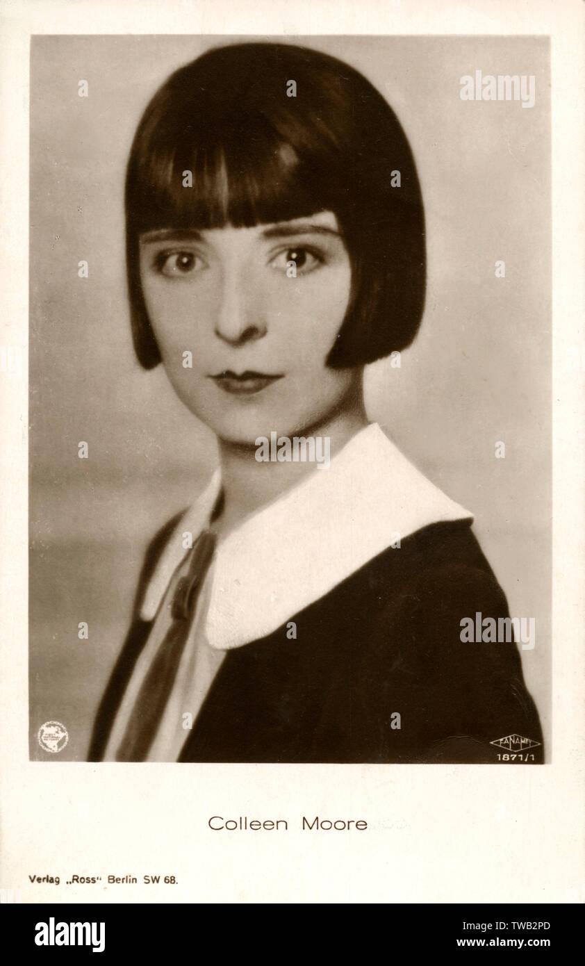 Colleen Moore (1899-1988) - amerikanischer Film star, einer der elegantesten der Ära und half Popularisieren der Dutchboy schaukelte Haarschnitt. Auch partner in Merrill Lynch und ein Puppenhaus Designer! Datum: ca. 1926 Stockfoto
