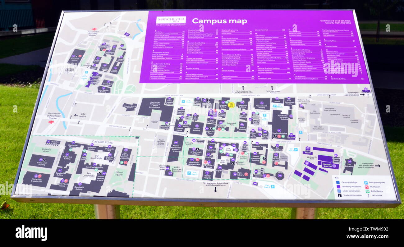 Campus Map Stockfotos & Campus Map Bilder - Alamy on