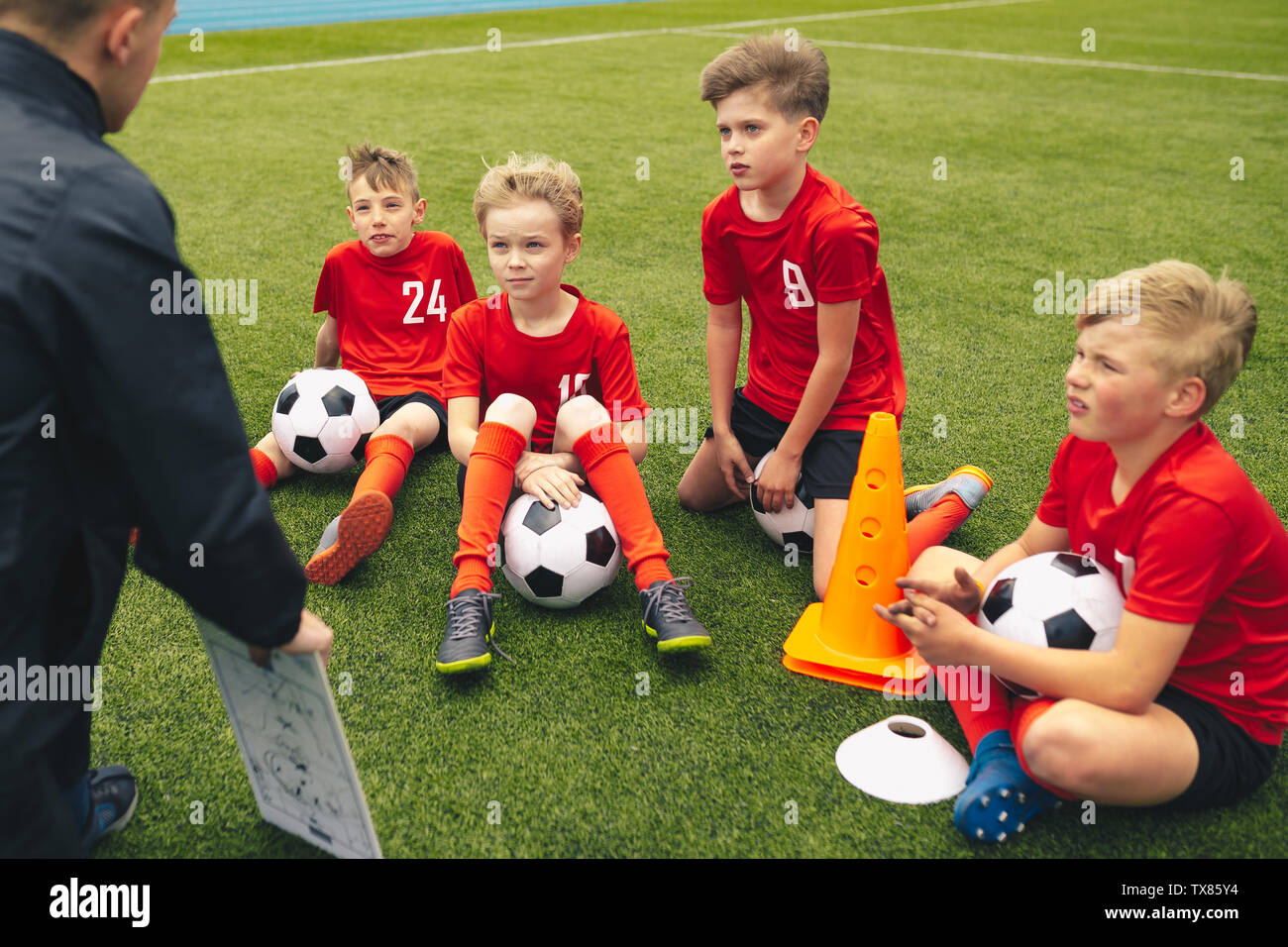 Fussball Trainer Coaching Kinder Fussball Fussball Training