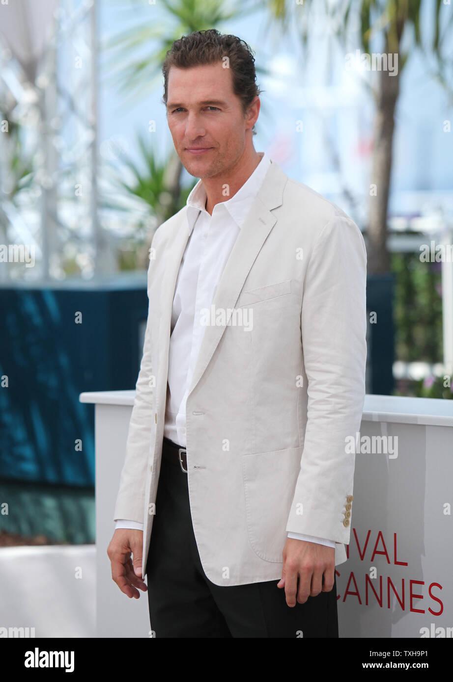 Matthew McConaughey ist an einem Fotoshooting für den Film 'Mud' während die 65. jährliche Internationale Filmfestspiele von Cannes in Cannes, Frankreich am 26. Mai 2012. UPI/David Silpa Stockfoto