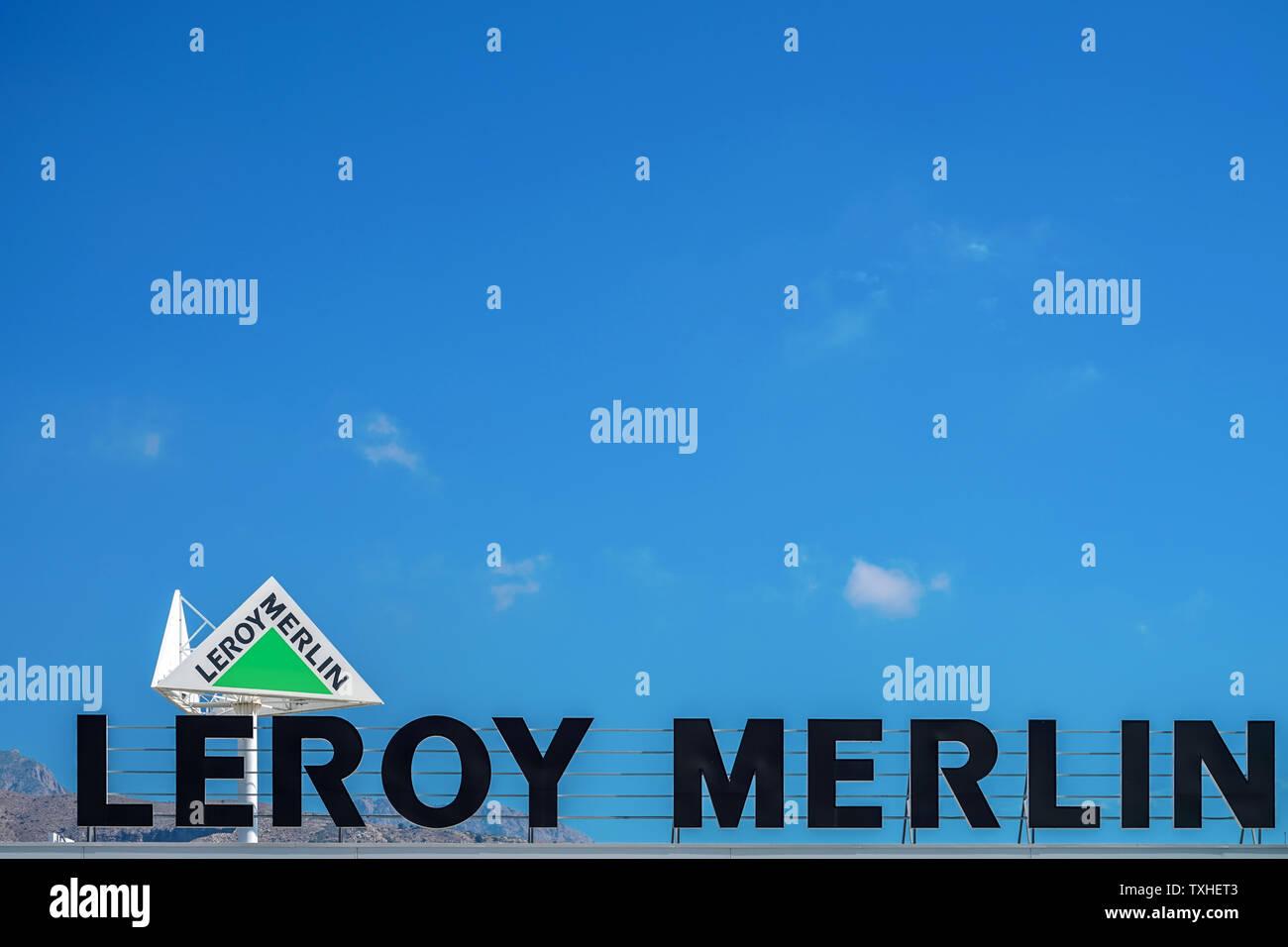 Finestrat Spanien 18 Juni 2019 Leroy Merlin Marke