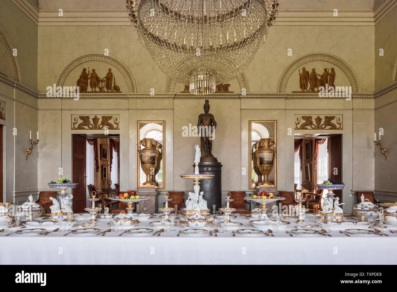 Ein Bankett im Schloss Fasanerie in Hessen; Deutschland Stockfoto