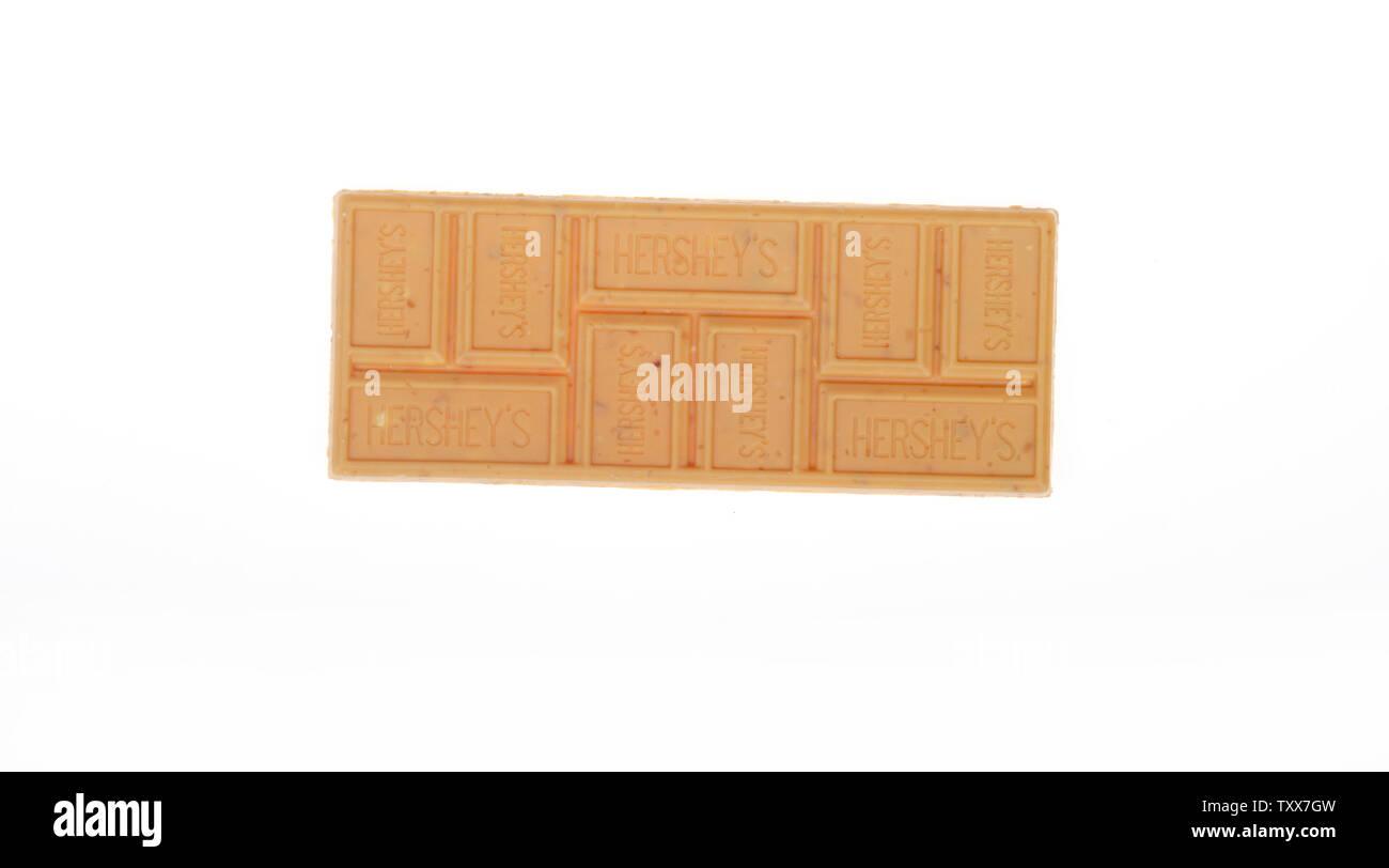 Hershey's Gold Erdnüsse & Brezeln Candy Bar Stockbild