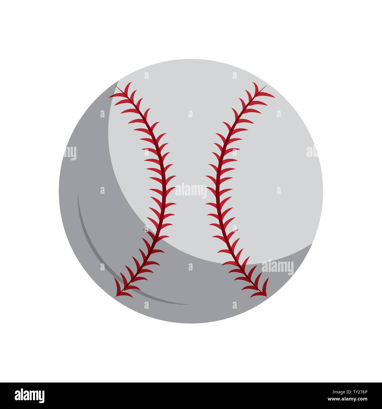 Baseball equiment Elemente Kugel Symbol cartoon Vector Illustration graphic design Stockbild