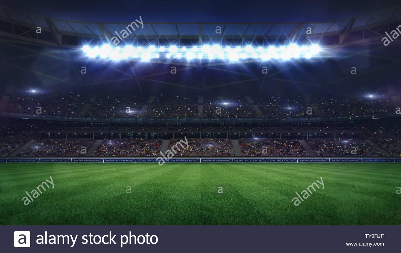 Fussball Stadion Sport Thema Digitale 3d Hintergrund Werbung