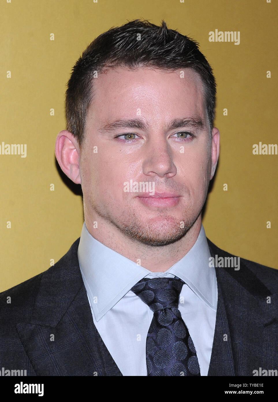 Amerikanischer Schauspieler Channing Tatum besucht die Europäische Premiere von 'Magic Mike'im Mayfair Hotel in London am 10. Juli 2012. UPI/Paul Treadway.. Stockbild
