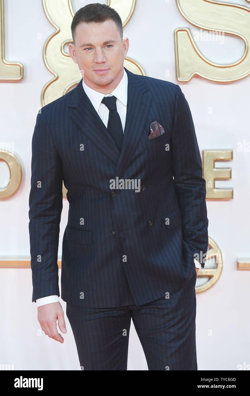 Amerikanischer Schauspieler Channing Tatum besucht die Premiere von kingsman: Der goldene Kreis im Odeon, Leicester Square in London am 18. September 2017. Foto von Rune Hellestad/UPI Stockbild