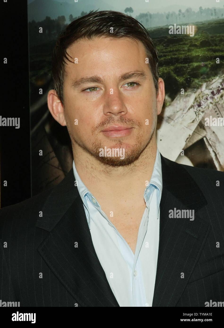 """Channing Tatum kommt für die Premiere des Dokumentarfilms """"Erde aus Glas' an der HBO-Screening Room am 5. April 2011 in New York City. UPI/Monika Graff Stockfoto"""