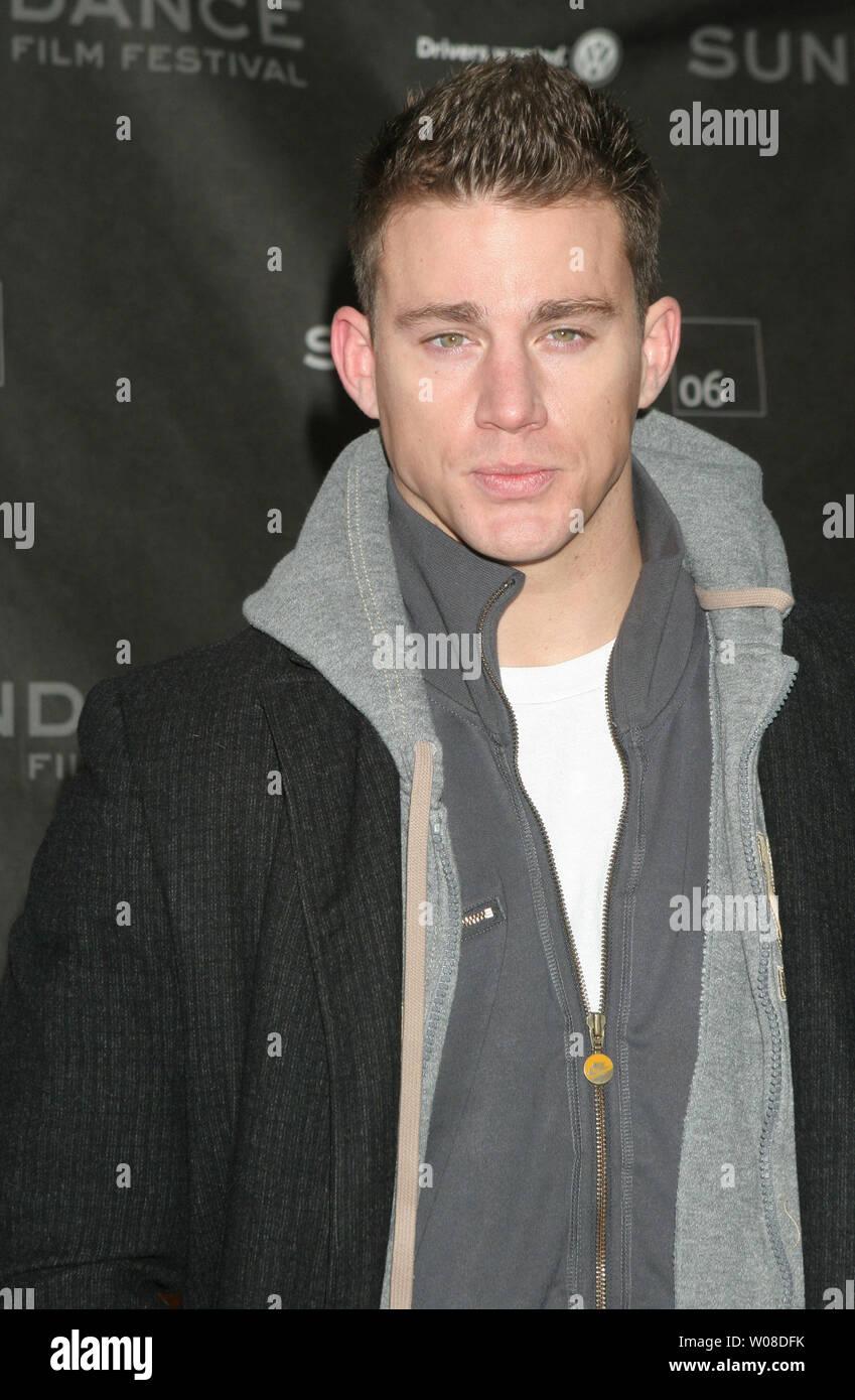 """Channing Tatum kommt an einem Screening von """"ein Leitfaden für die Erkennung ihrer Heiligen' für Sundance 2006 Racquet Club in Park City, Utah am 20. Januar 2006. (UPI Foto/Roger Wong) Stockbild"""